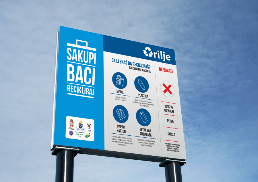 City of Arilje - Recycle Campaign - Info board