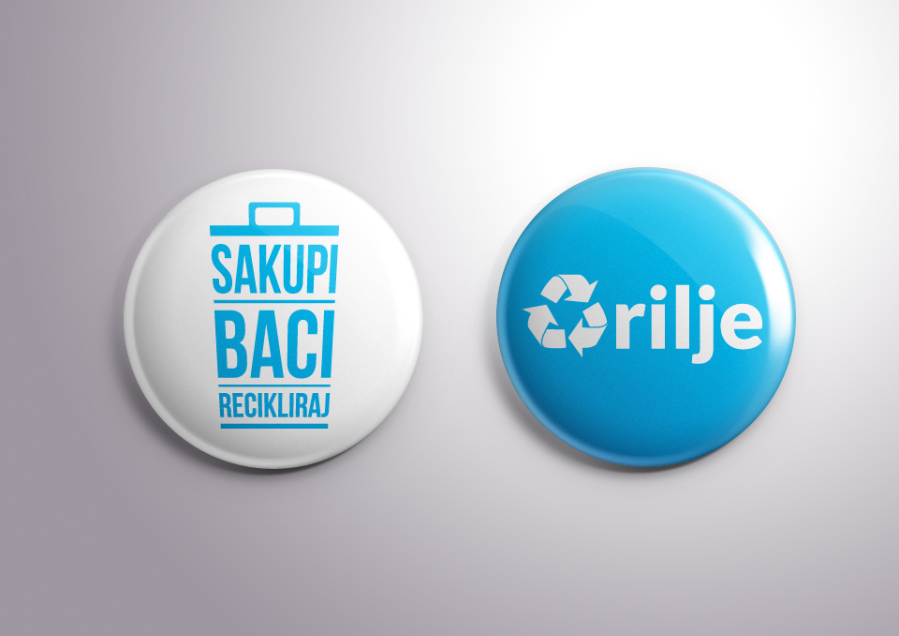 City of Arilje - Recycle Campaign - Pins