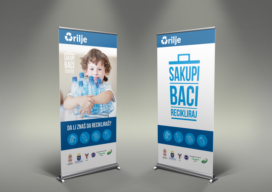 Opština Arilje - Sakupi, Baci, Recikliraj - Roll Up