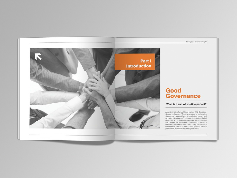 Making Good Governance Tangible brochure design