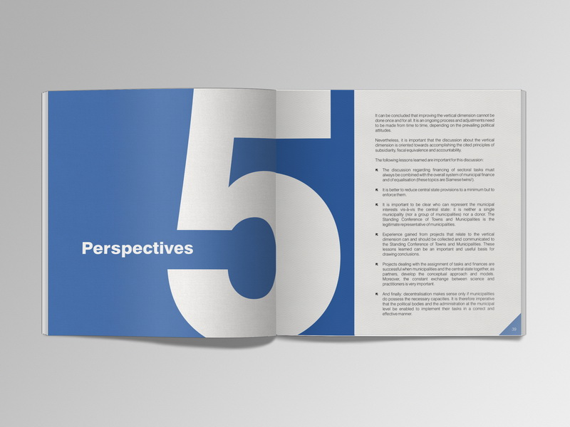 Good Governance Vertical Dimension brochure design